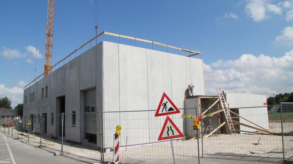 Wabe-Plan Architektur Stadion Festwiese Stuttgart Baustelle