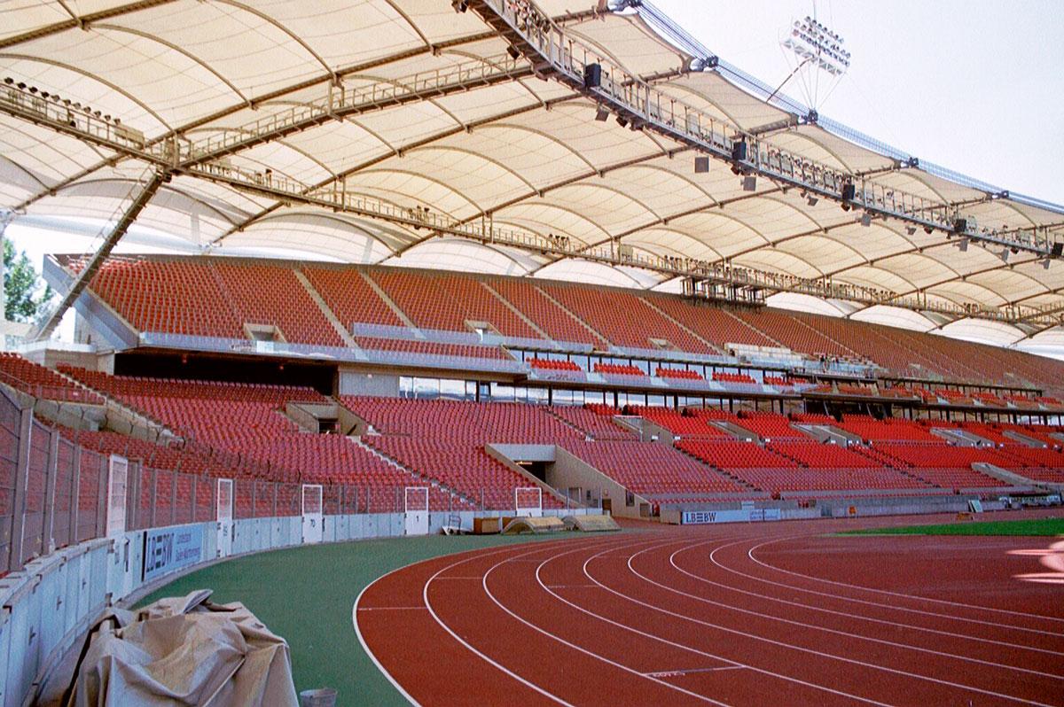 Wabe-Plan Architektur Mercedes-Benz Arena, Gottlieb-Daimler Stadion