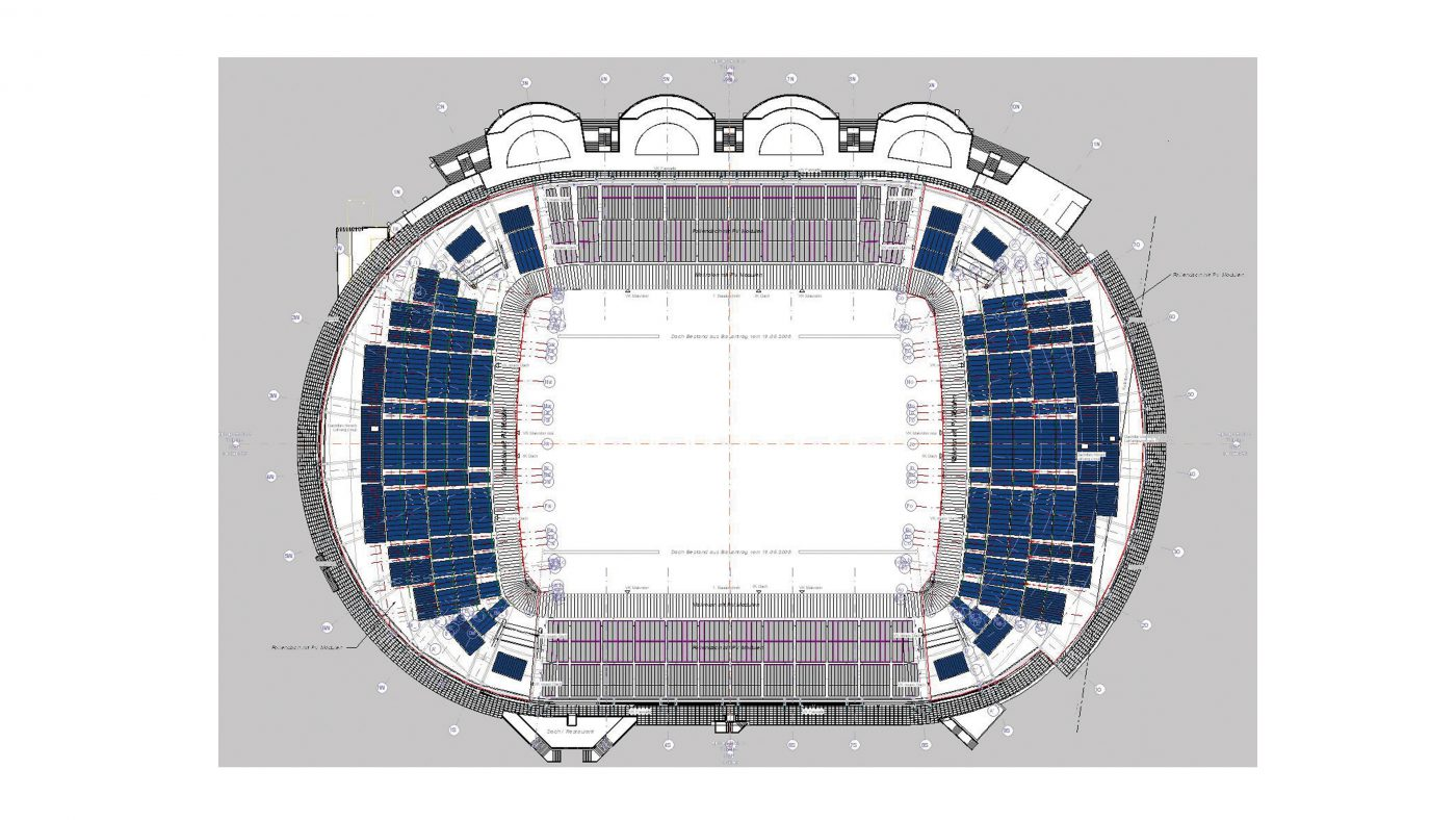 Wabe-Plan Architektur Weser-Stadion Bremen Revit 3D