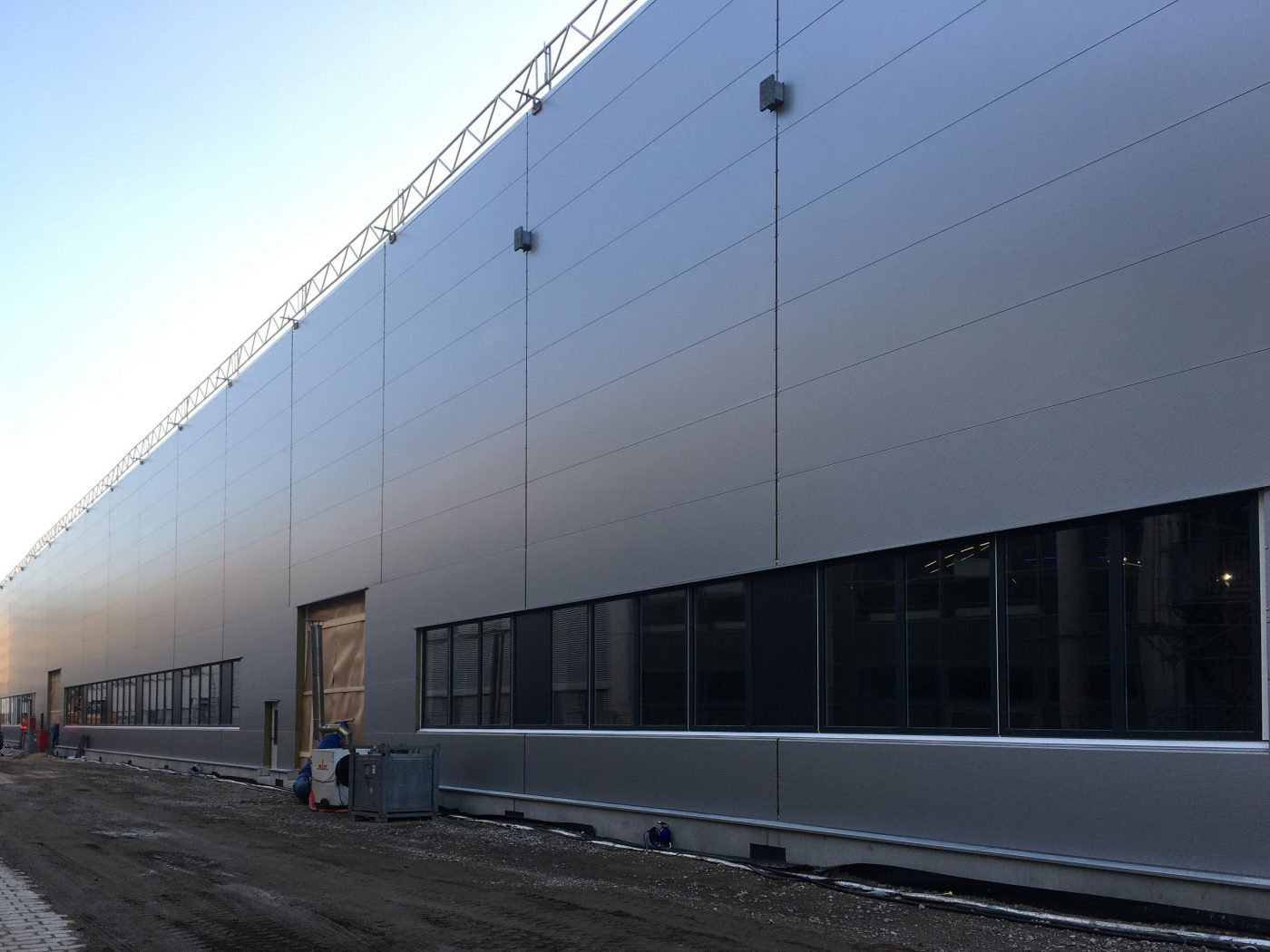 Wabe-Plan Architektur Industriehalle Esslingen Automobilhersteller, Baustelle