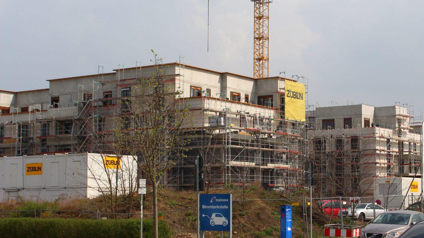Wabe-Plan Architektur Europaviertel Wohnungsbau FFM Baustelle