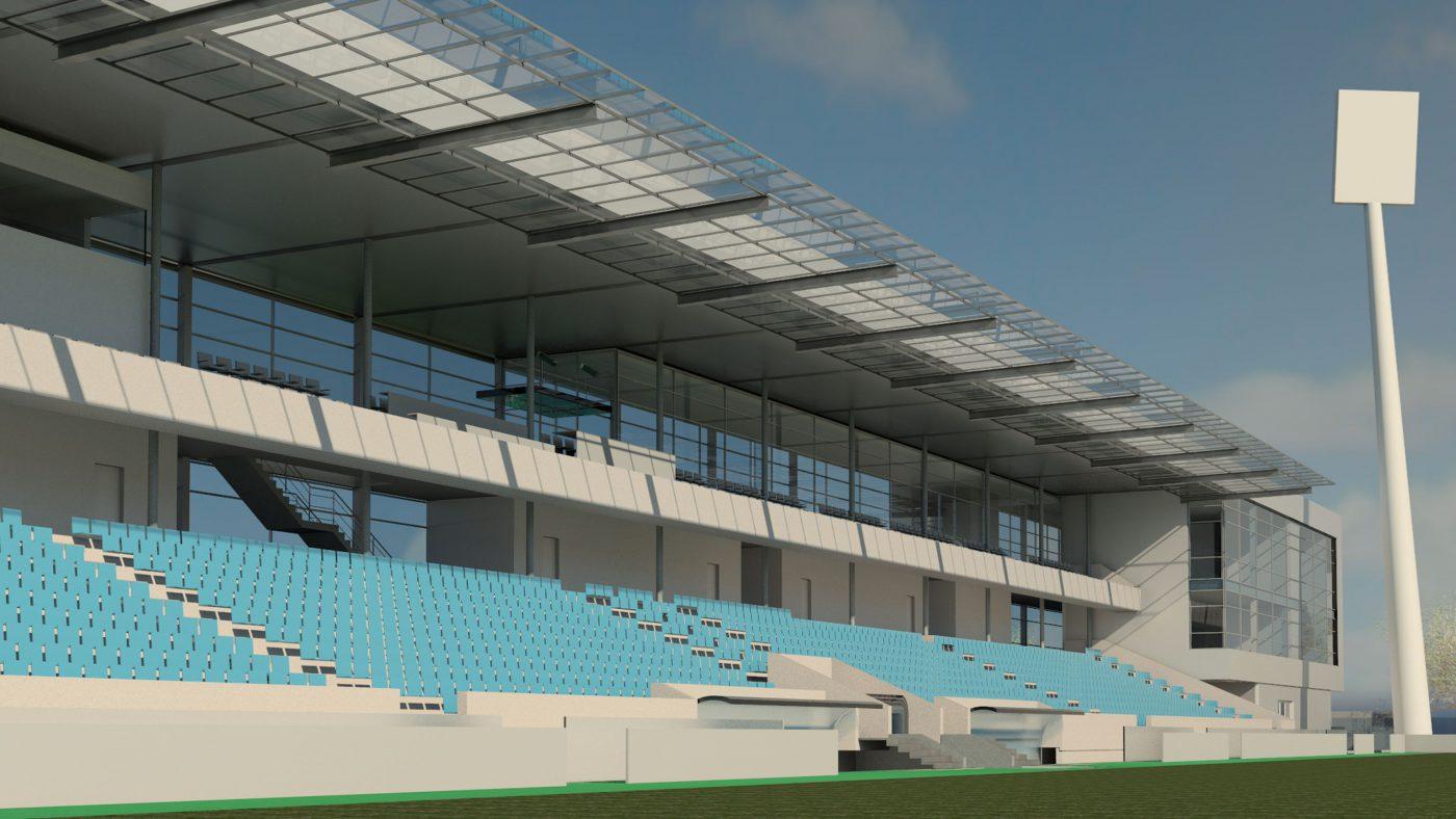 Wabe-Plan Architektur Wettbewerb Gazi-Stadion Stuttgart