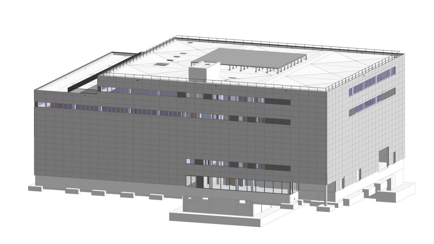 Wabe-Plan Architektur Fahrsimulationszentrum 3D