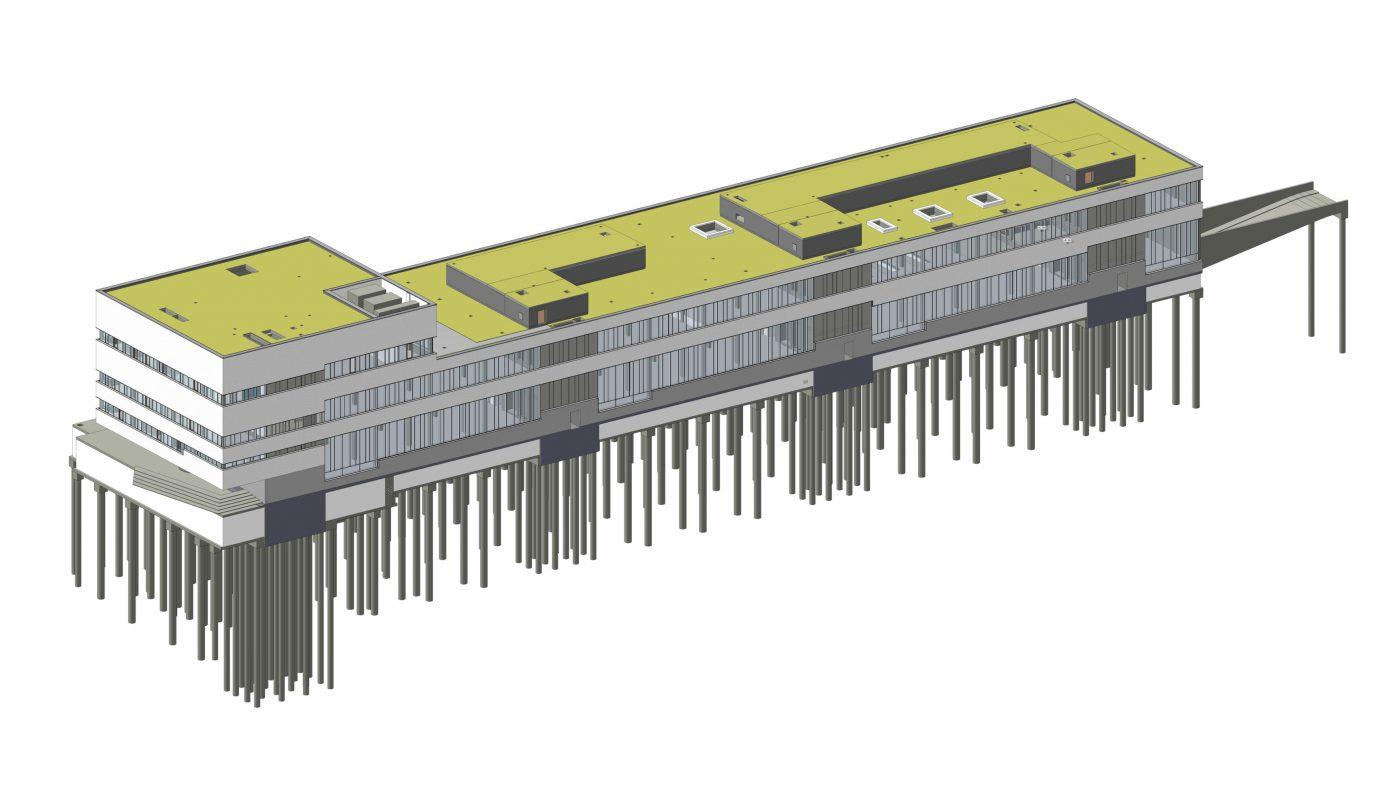 Wabe-Plan Architektur Porsche Ausbildungszentrum Stuttgart 3D