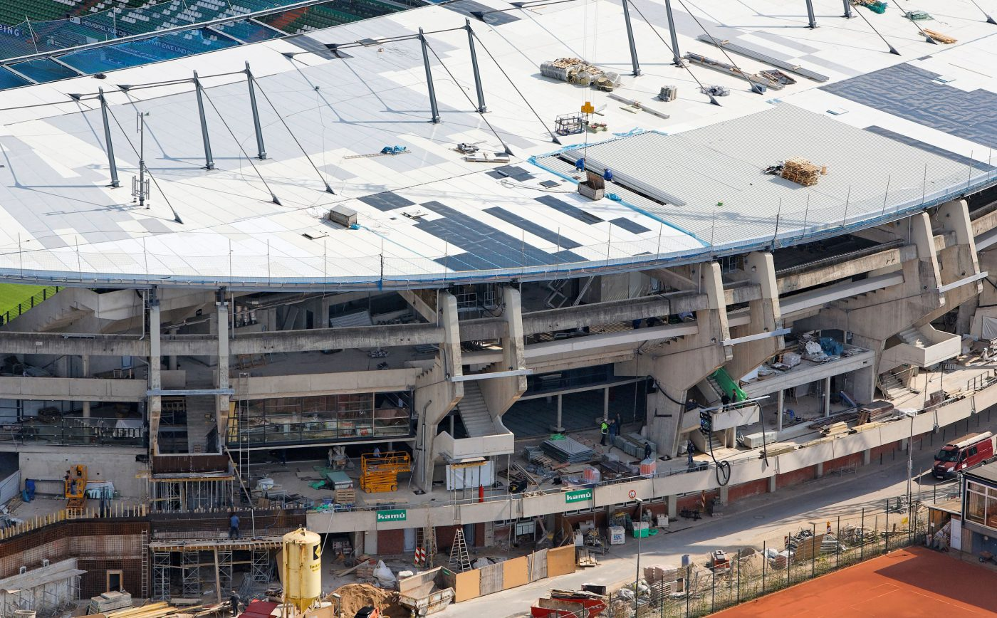 Wabe-Plan Architektur Weser-Stadion Bremen Baustelle