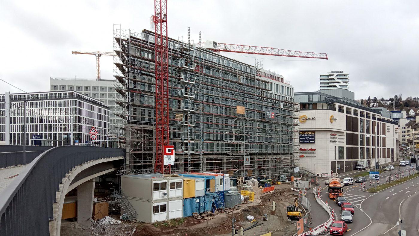 Wabe-Plan Architektur Doppelhotel Stuttgart Baustelle