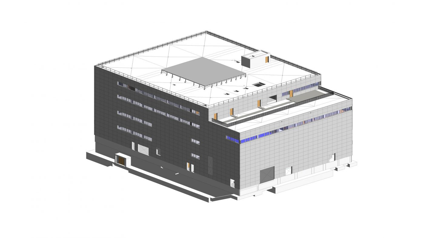 Wabe-Plan Architektur Fahrsimulationszentrum Revit 3D