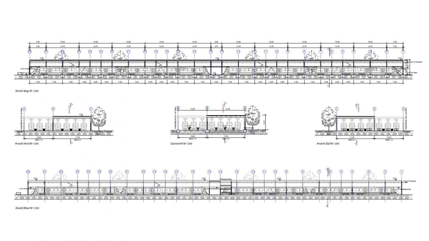 Wabe-Plan Architektur SSB Abstellanlage