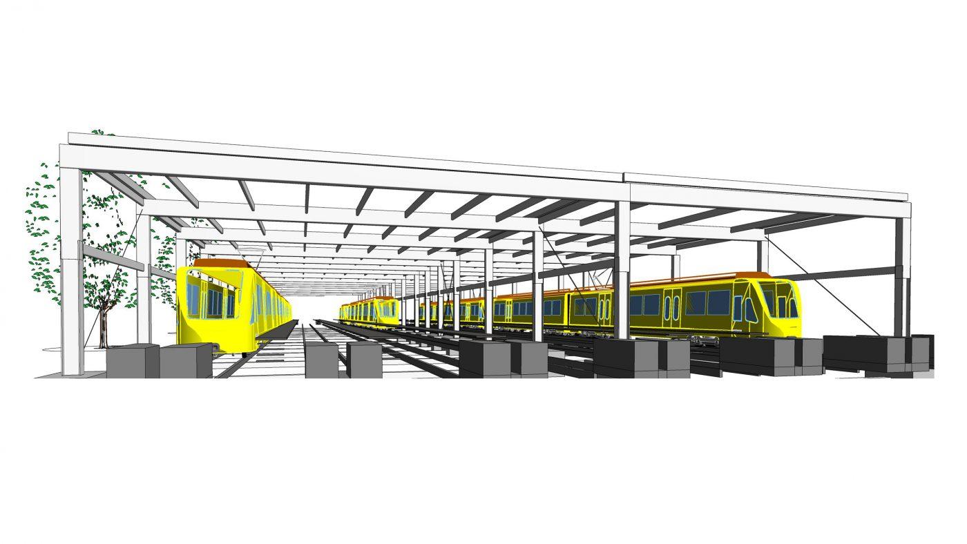 Wabe-Plan Architektur SSB Abstellanlage Revit 3D